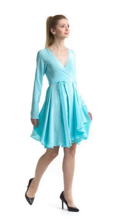Wrap dress Tania isometric view